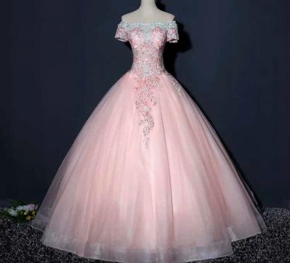 Vestido Quinceañera Rosa Nuevo 15 Años