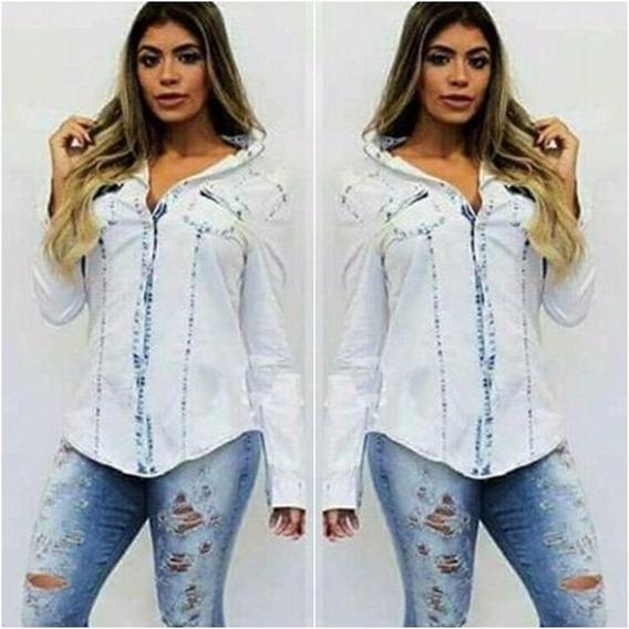 Camisete Blusa Jeans Feminino Degrade Linda Pr Entrega 2508