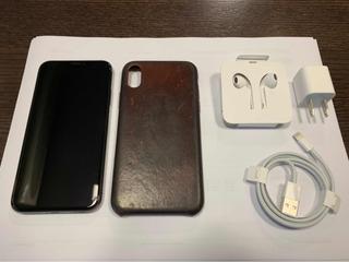 iPhone X 256gb Space Gray Com Capa De Couro Apple Original