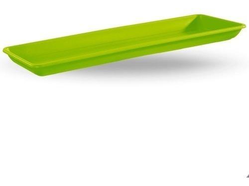 Plato Plastico Para Jardinera Rectangular N35 35cm Beruplast