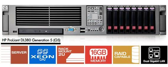 Servidor Hp Proliant Dl380 G5 - 2 Xeon / 16g / 2x Hd 146g