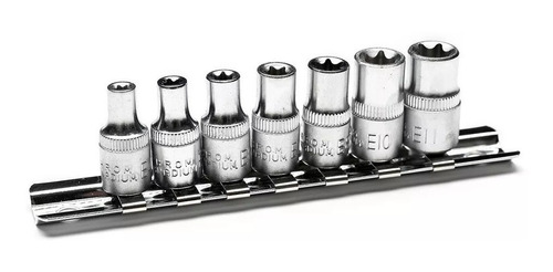 Juego Llaves Tubo Torx Hembra Bremen 7pz E4 A E11 Enc 1/4