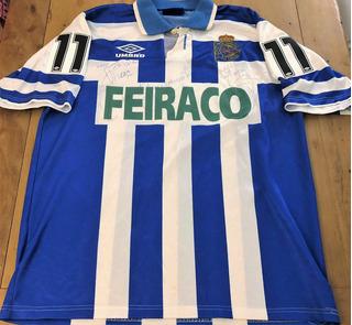 Camisa La Coruña Despedida Roberto Dinamite Autografada