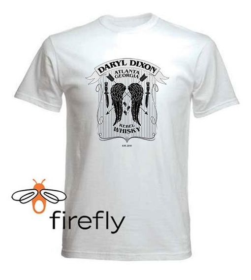 Remera Walking Dead Daryl Hombre Blanco Coleccion 1 Firefly