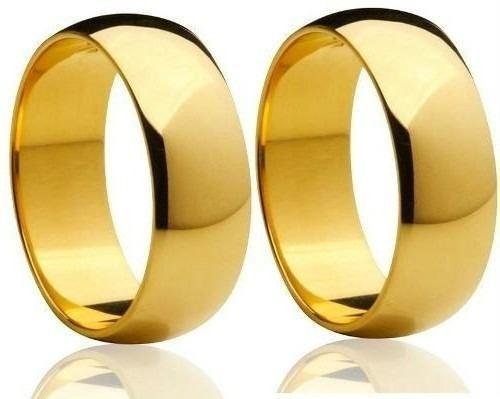 Par Alianças De Ouro 18k 5mm 7grs Casamento Frete Gratis!