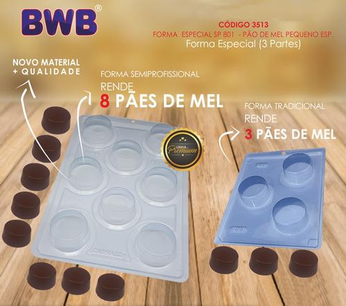Molde Pão De Mel Pequeno Bwb Silicone Sp801 8 Cavidades