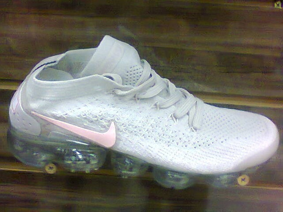 Tenis Nike Vapormax 2.0 Bege E Rosa Nº38 Original Na Caixa
