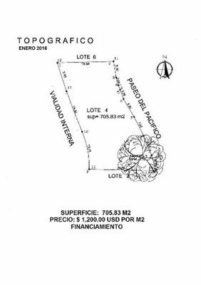 (crm-4510-2668) Cad Cima Real Lote Residencial Número 4, De 705 M²