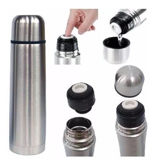 Garrafa Térmica Inquebrável Aço Inox 1 Litro Quente E Frio