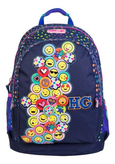 Mochila Escolar Grande Happy Girl Chenson Emojis 62972-9