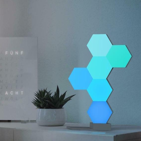 5 Painéis De Luz Life Smart 16 Milhoes De Cores Wifi C/ Base