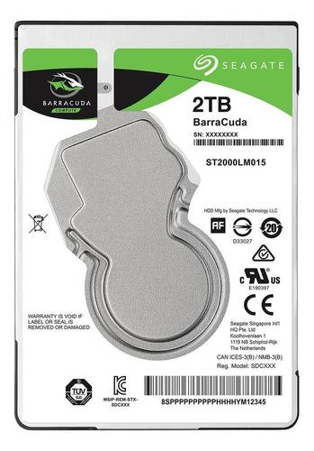 Imagen 1 de 2 de Disco duro interno Seagate Barracuda ST2000LM015 2TB verde