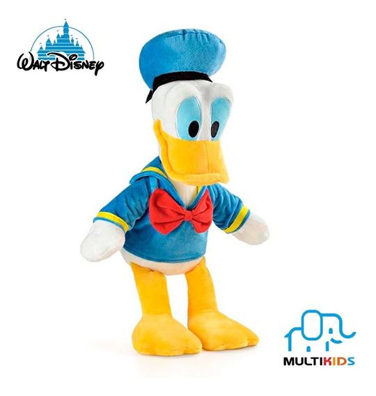Boneco De Pelúcia Disney Pato Donald Com Som 33cm Multikids