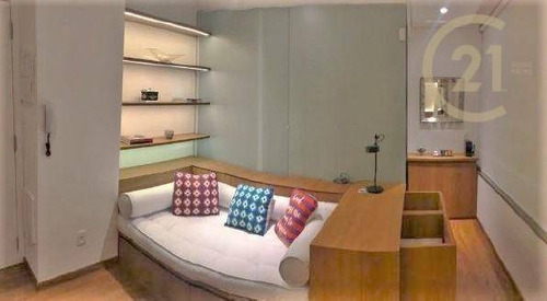 Imagem 1 de 8 de Apartamento Totalmente Mobiliado Com 1 Dormitório À Venda, 29,6 M² Pronto Para Morar Por R$ 755.000 - Vila Nova Conceição - São Paulo/sp - Ap23642
