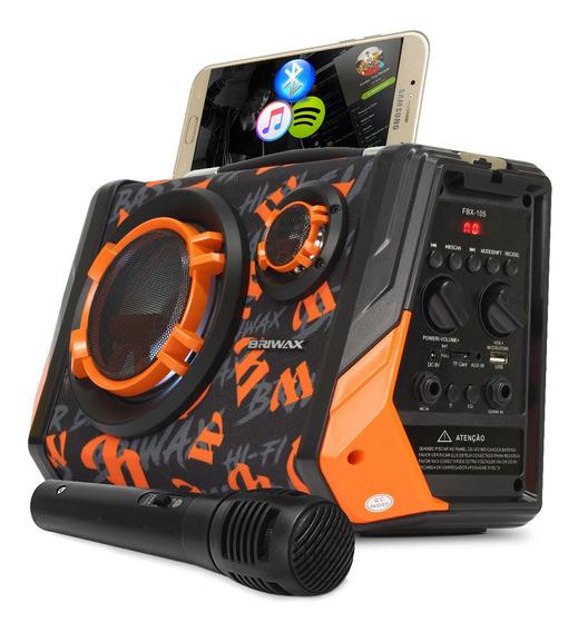 Caixa Som Bluetooth Amplificada 65w Rms Mp3 Fm Microfone Usb