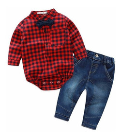 Conjunto Bebê Jeans Moderno 3 Peças + Brinde