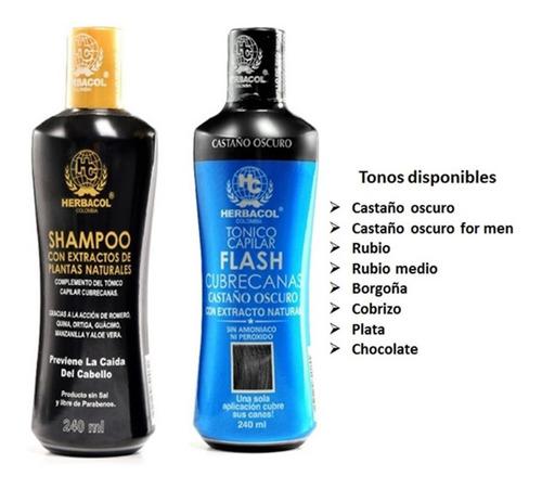 Tonico Y Shampoo Cubre Canas Herbacol  - - kg a $79