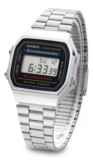 Relógio Casio A168-1wdf Prata Unissex Retrô Original