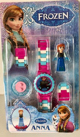 Relógio Infantil Frozen C/ Pulseira + Mini Boneco
