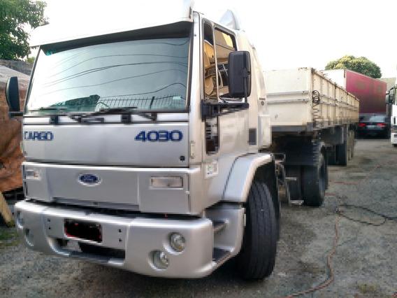 Vendo , Ford Cargo 4030 Ano 2001 Prata Em Bom Estado Geral