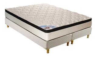 Sommier Inducol Pocket Firm 1 1/2 plaza 190x150cm blanco