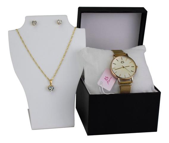 Relógio Feminino Original Pulseira Magnética + Brinde
