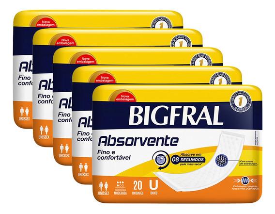 Kit De Absorvente Geriátrico Bigfral - 100 Unidades