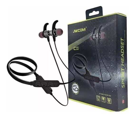Fone Ouvido Bluetooth Sport Jwcom 4.2 Stereo Fo-c33