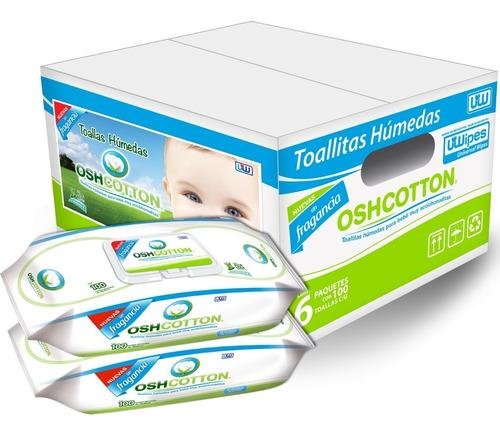 Imagen 1 de 8 de Toallitas Húmedas Oshcotton Premium, Caja 6pz