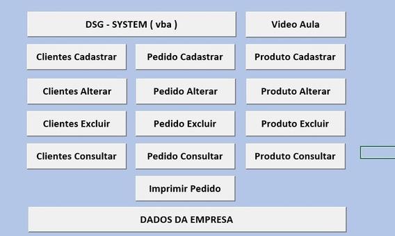 Sistema De Cadastro De Clientes, Produto E Pedido De Venda