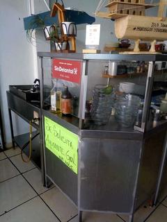 Mueble 3 Pzasde Aluminio Con Vitrina Para Restaurant Cocina