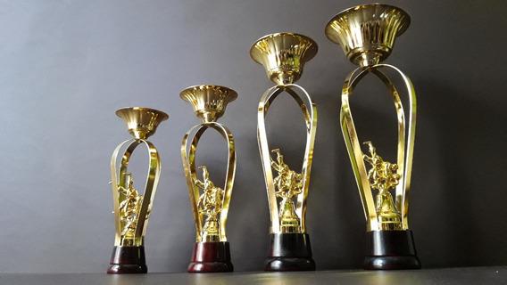 Trofeo Copa Metálico Judo Yudo Artes Marciales Base Mad 30cm