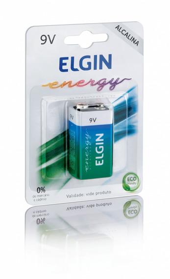 Bateria 9v Alcalina Elgin - Kit Com 10 Peças