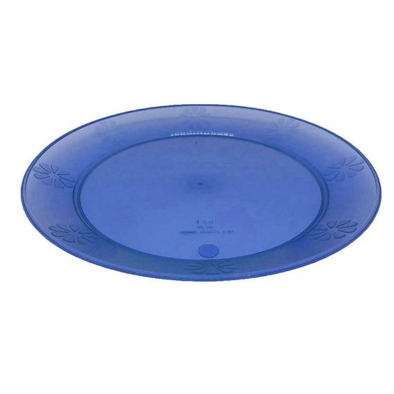 Platos Grandes Plástico Descartable Duro Reusable 23cm X10