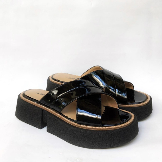 3305 Charol Negro, Zapatos De Cuero