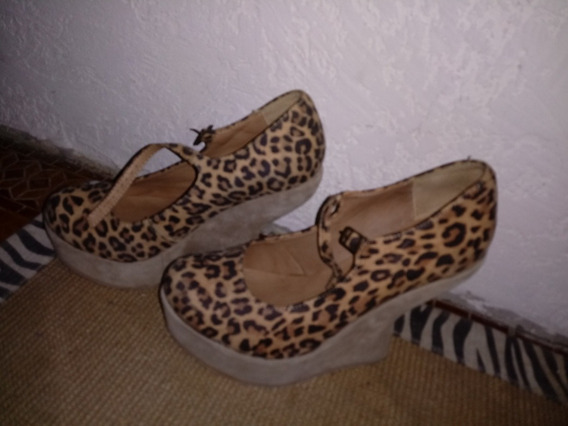 Zapatos Animal Print Marca Muaa Talle 38