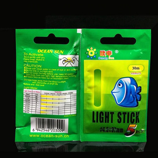 Kit C/15 Bastão Stick Luz Química Boia Pesca Noturna