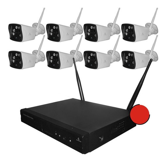 Kit 8 Camaras Wifi Inalambricas Cctv Ip Vigilancia Seguridad