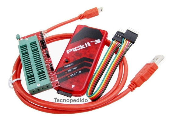 Microchip Pickit 3 Debugger Y Programador Pic Y Zocalo Zif
