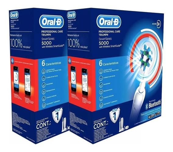 Pack 2 Cepillos Eléctrico Oral-b Professional 5000 Bluetooth