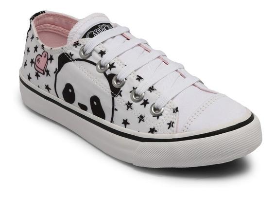 Tênis Capricho Panda Branco Cp0557