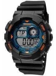 Relógio Mormaii Masculino Preto Com Laranja Mo3415/8y