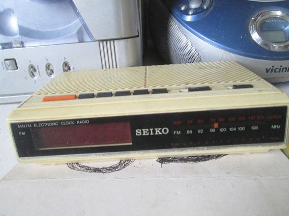 Radio Relogio Seiko Funcionando 100 Reais