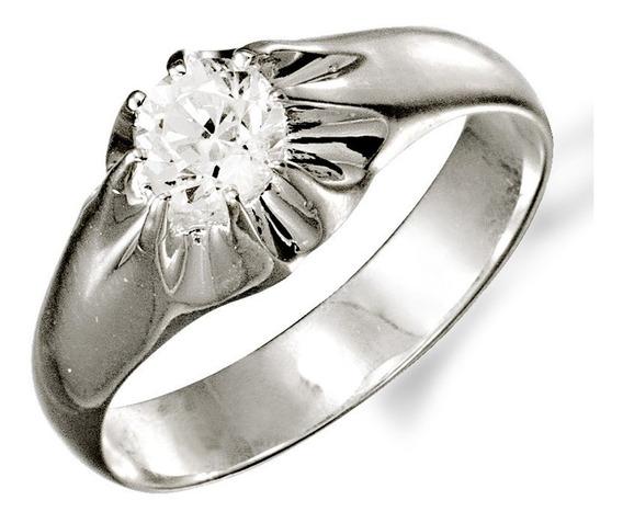 Anéis Pé De Cabra Masculino Prata 950 De Le/pedra Zircôrnia
