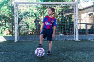 Conjunto Infantil Short E Camisa Barcelona Messi Uniforme