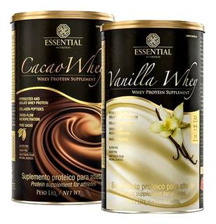 Cacao Whey Ou Vanilla Whey - 900g - Essential - Whey Isolado