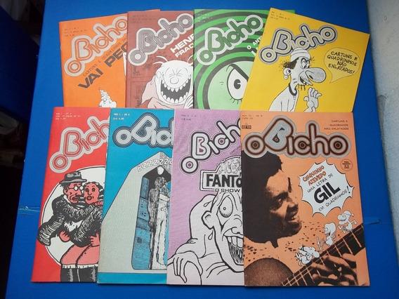 Lote Revista Bicho Vai Pegar 1 Ao 8 Cartuns E Quadrinhos
