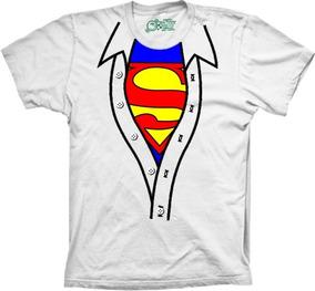 Camiseta Plus Size Divertida Superman Camisa Aberta