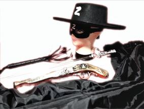 Fantasia Sword Festival Capa E Espada Zorro Chapeu Chicote