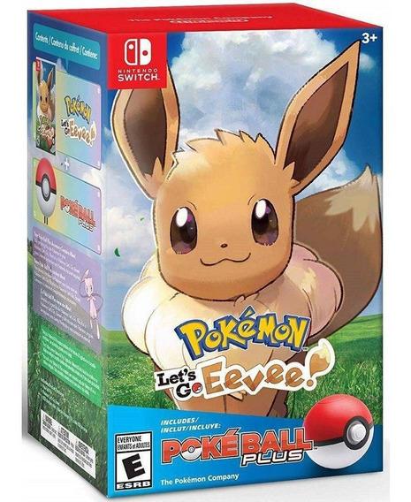 Pokemon Lets Go Eevee Bundle Pokeball Plus Nintendo Switch